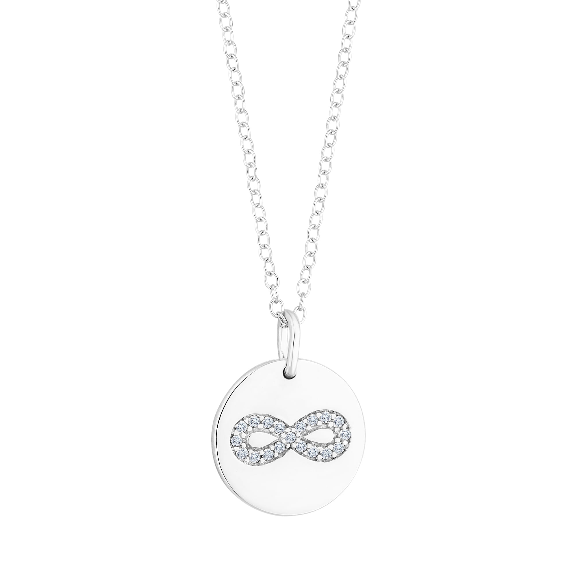 product pendant infinity b necklace dodged hammered