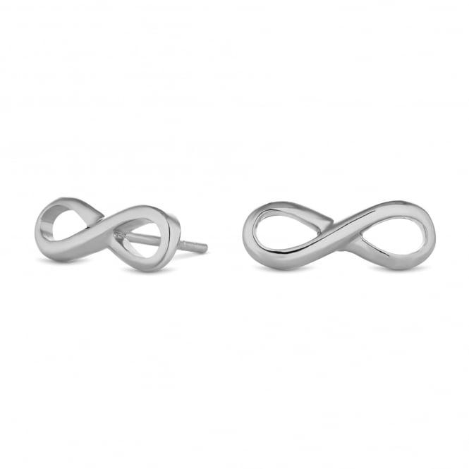 Sterling Silver Infinity Stud Earring