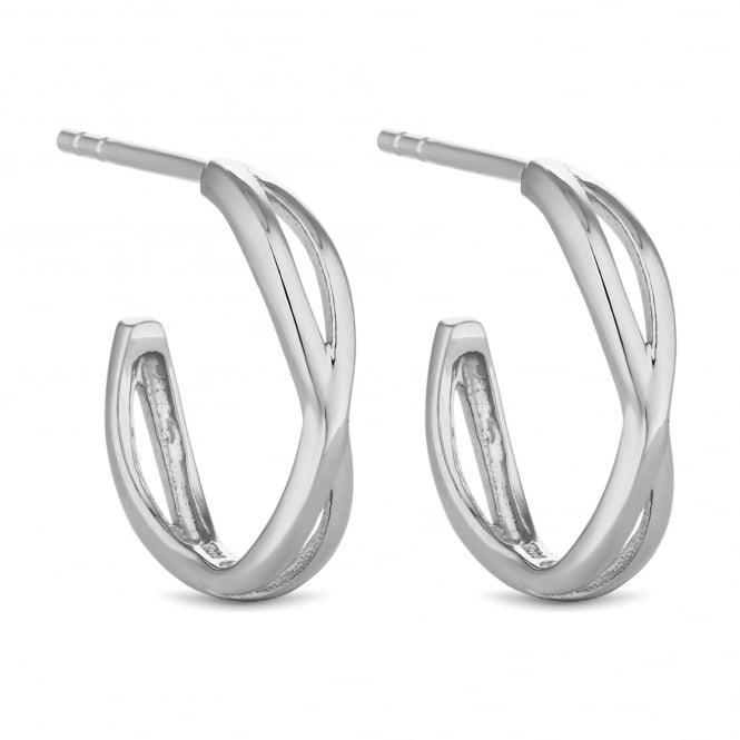 Sterling Silver Infinity Hoop Earring