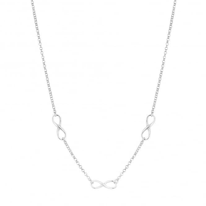 Simply Silver Sterling silver infinity necklace