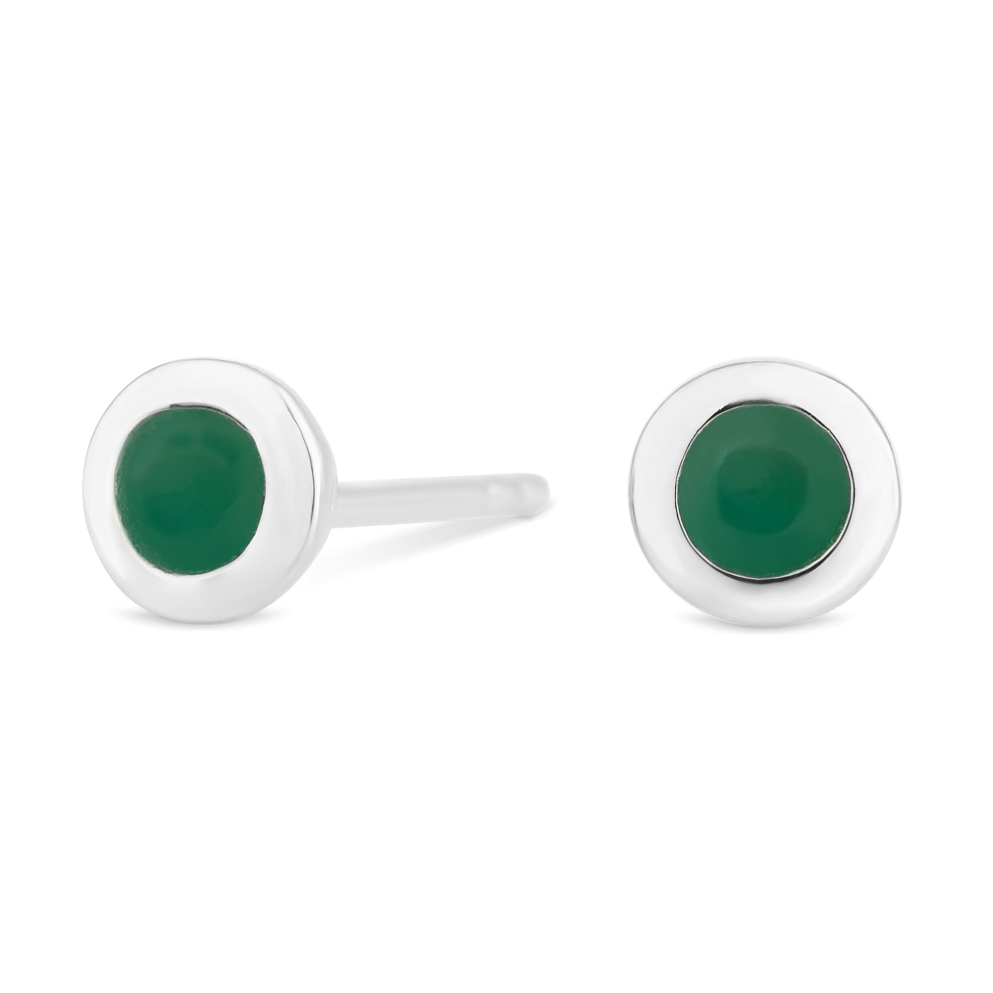 strand products emerald stone pearl and halleh drop earrings
