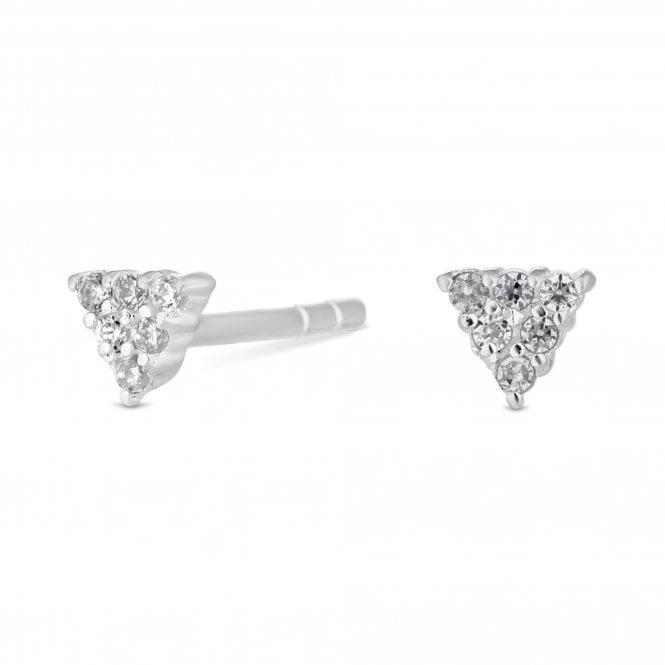 Sterling Silver Mini Triangle Stud Earring