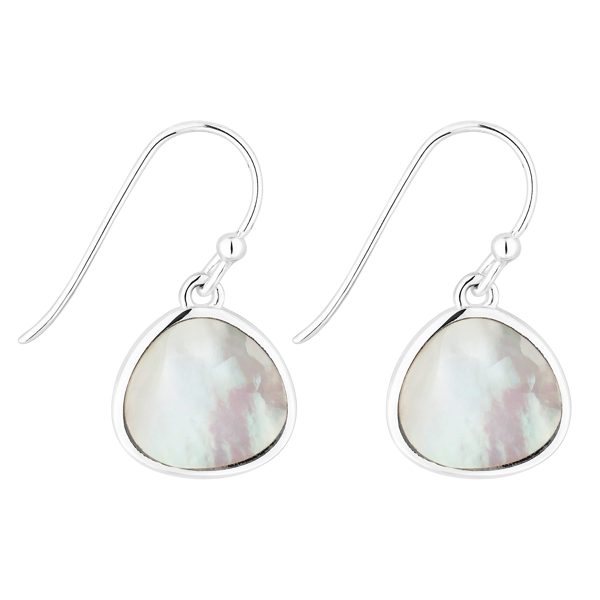 Sterling Silver Mother Of Pearl Drop Earring