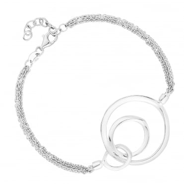 Sterling Silver Multi Ring Bracelet