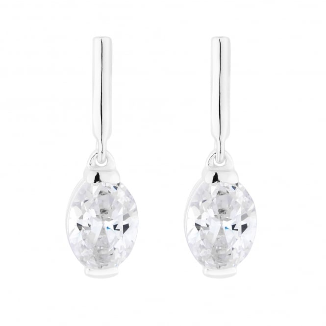 Simply Silver Sterling Silver Oval Drop Earring