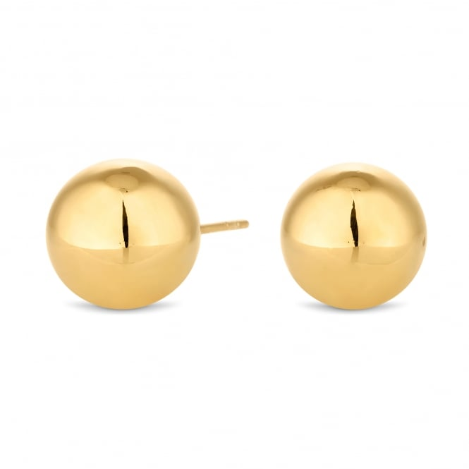 14ct Gold Plated Sterling Silver Over-sized Ball Stud Earring