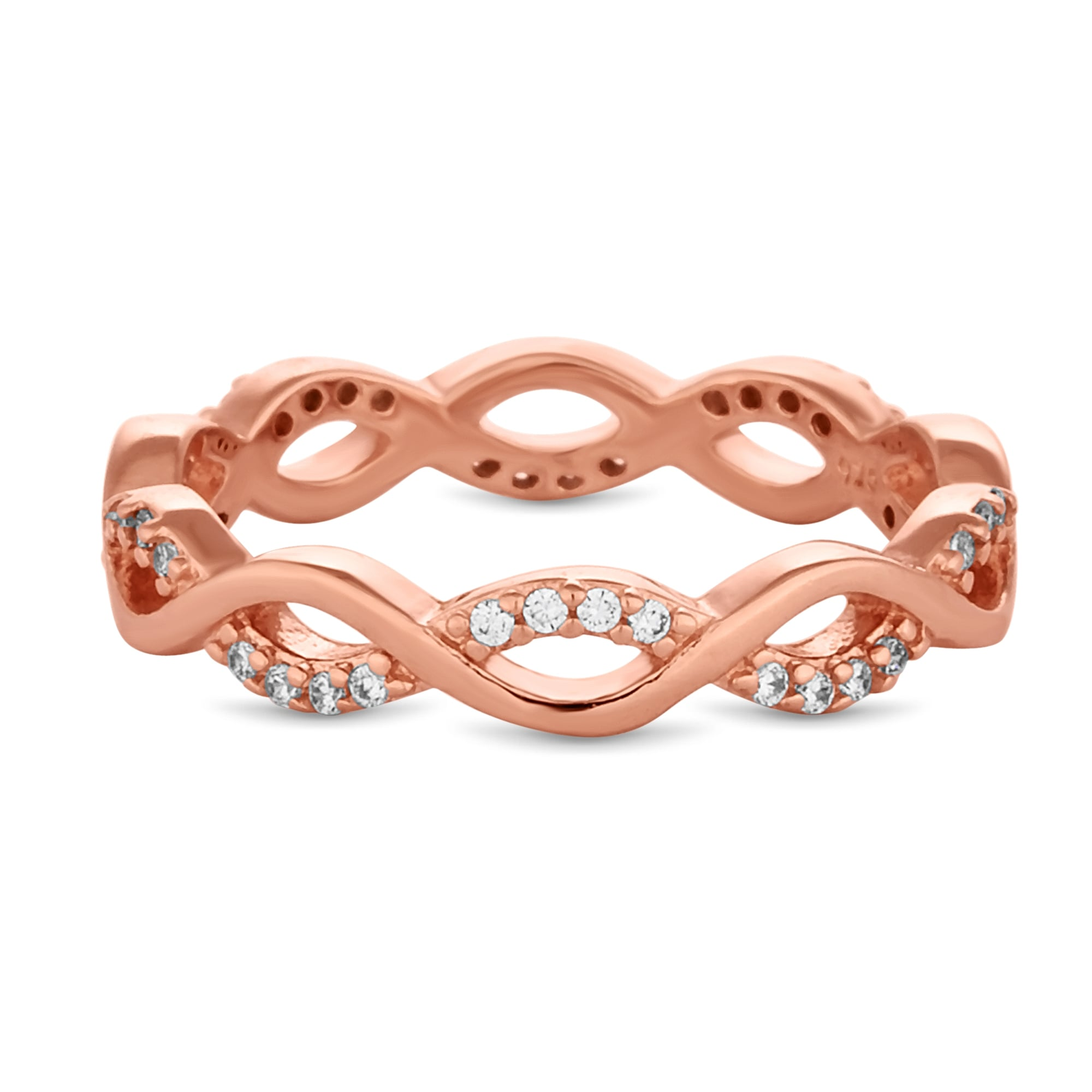 ring on luulla crystal detailed band bands rose color cute pin gold cz silver infinity heart in