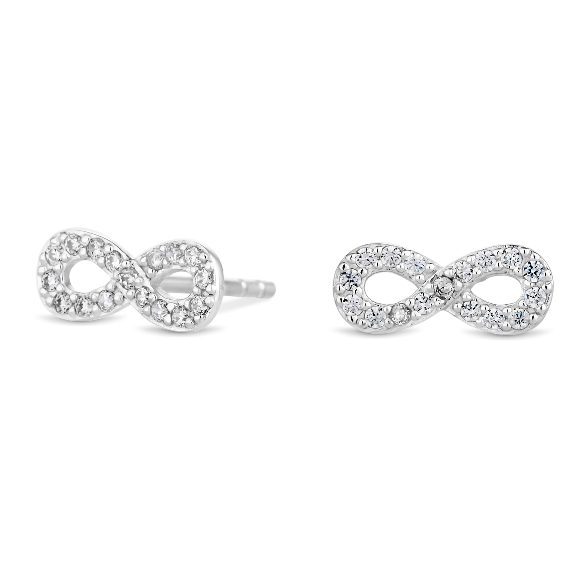 ie products earrings set crystal silver tipperary infinity stone stud