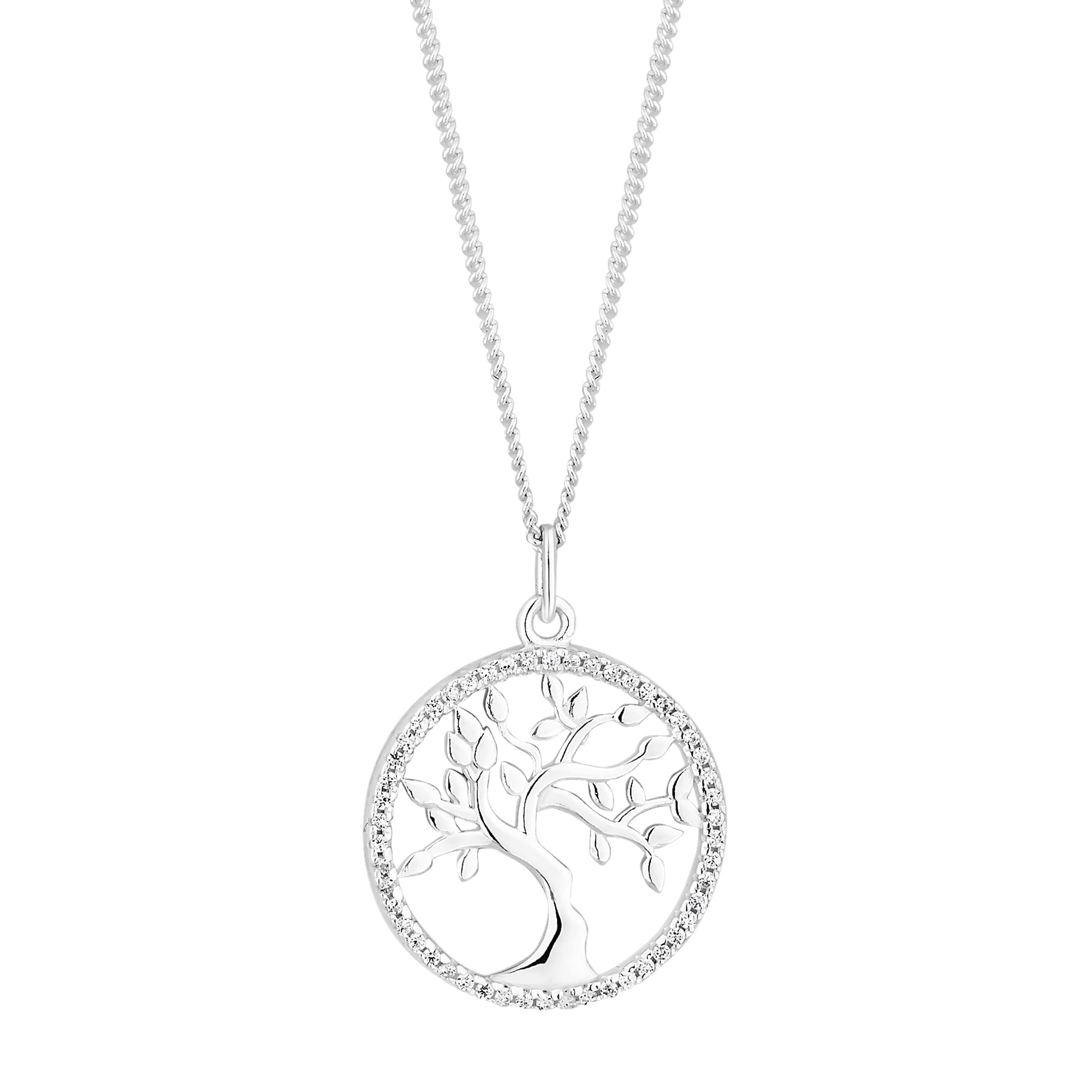 necklace bling silver tree pfs pendant inspirational of jewelry life sterling par
