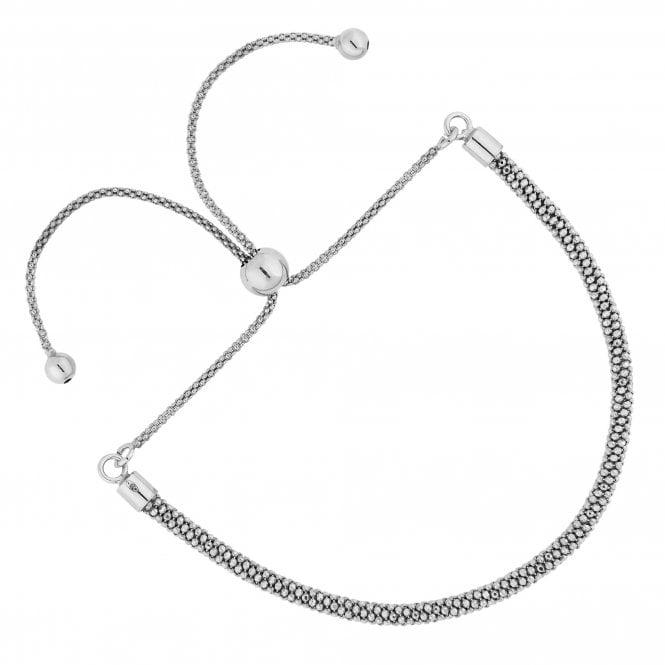 Sterling Silver Popcorn Toggle Bracelet