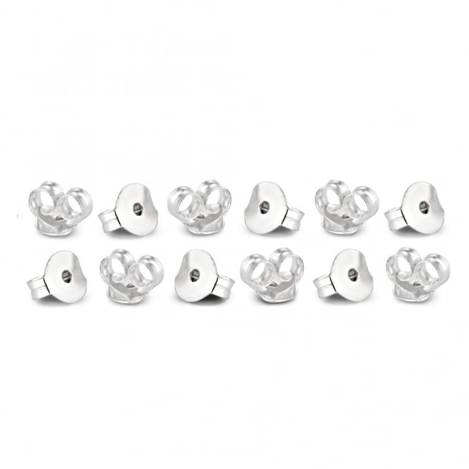 Sterling Silver Butterfly Earring Backs - Set Of Twelve