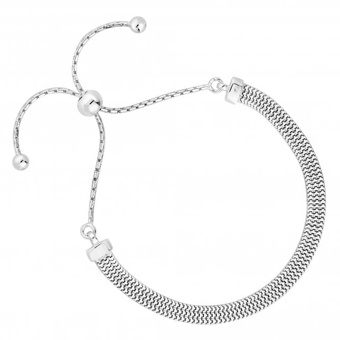 Sterling Silver Slinky Chain Toggle Bracelet