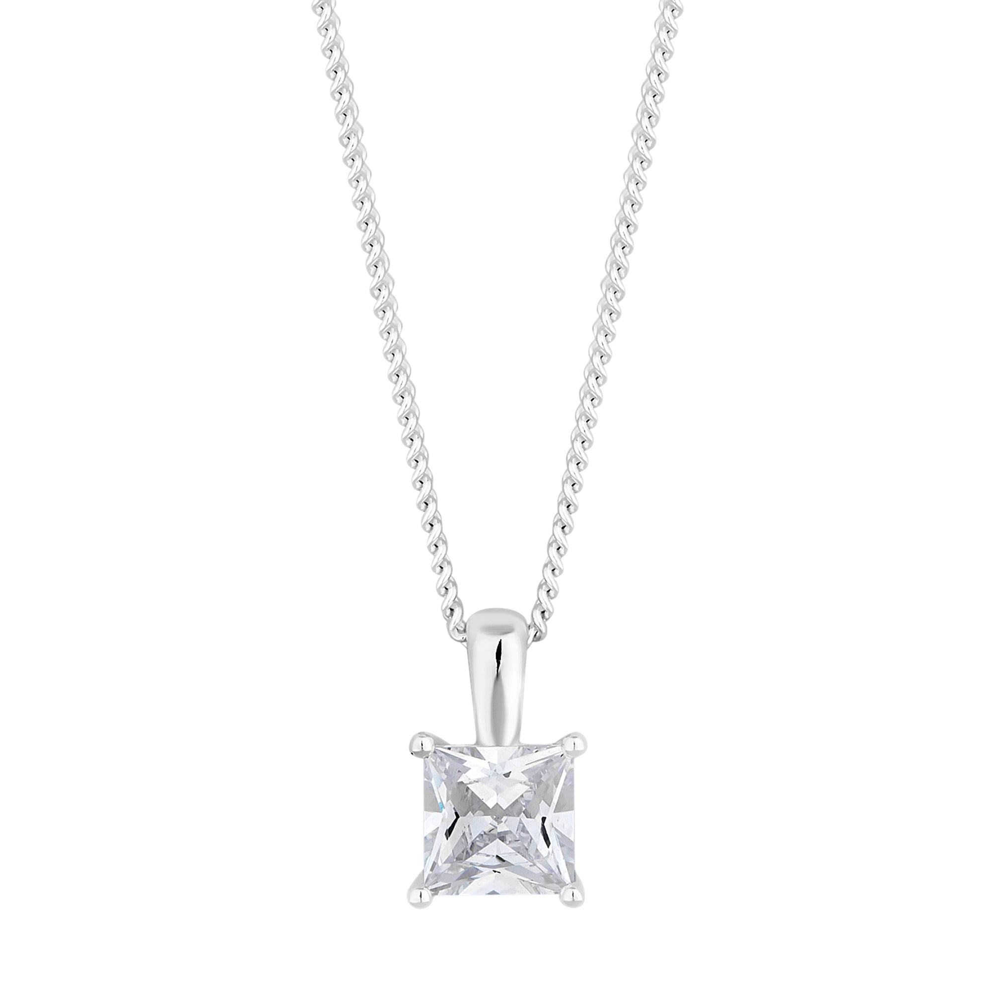 necklace icing solitaire twisted pendant zirconia cubic us