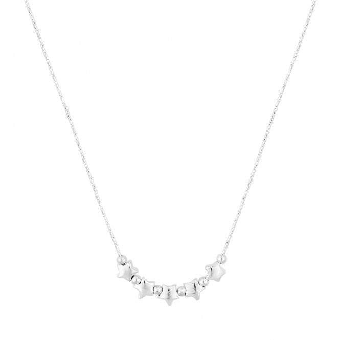 Sterling Silver Star Cluster Necklace