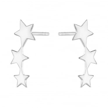 Sterling Silver Star Ear Climber Earring