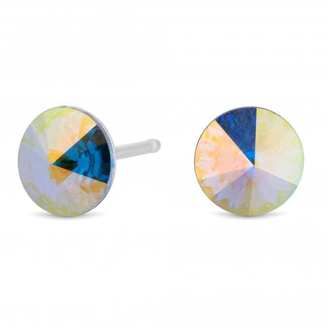 Sterling Silver Stud Earring Embellished With Swarovski Crystals