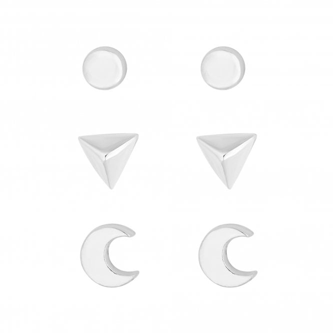 Sterling Silver Stud Earring Set