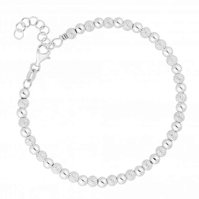 Sterling Silver Textured Bead Bracelet