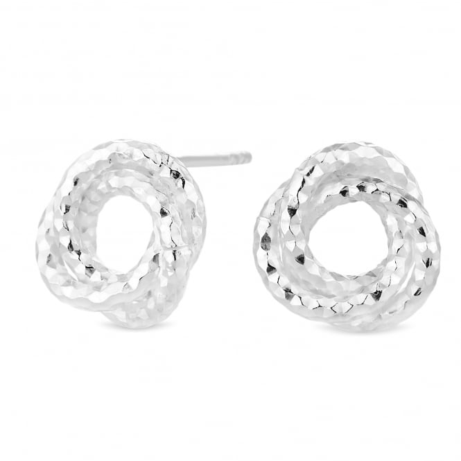 Simply Silver Sterling Silver Textured Knot Stud Earring
