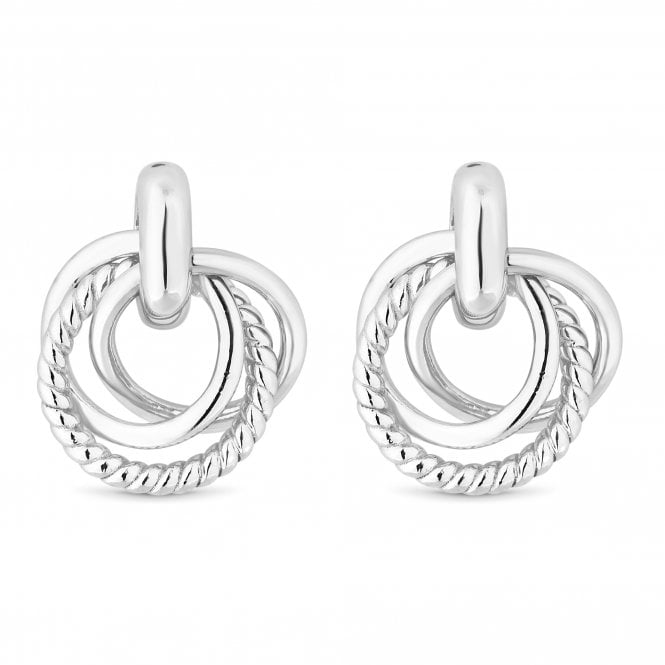 Sterling Silver Triple Ring Stud Earring