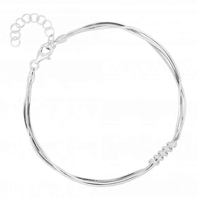 Sterling Silver Twist Multi Chain Bracelet