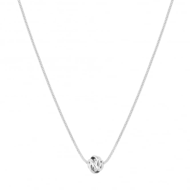 Simply Silver Sterling silver wrap knot necklace
