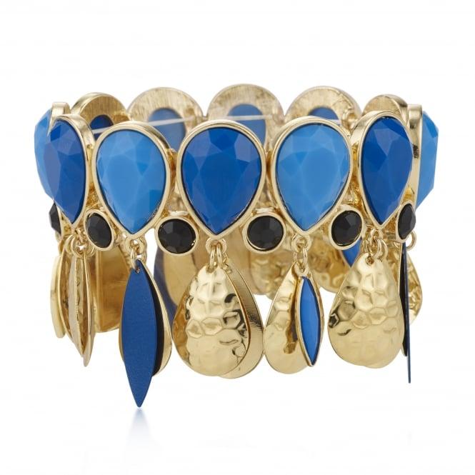 Tonal blue peardrop bracelet