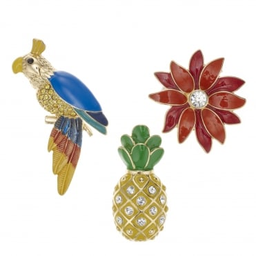Tropical brooch set