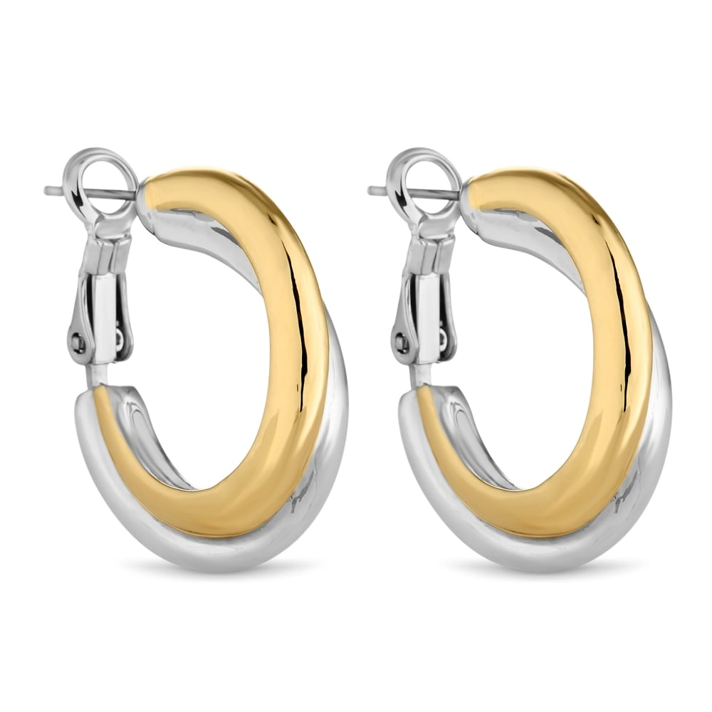 Two Tone Hoop Earring