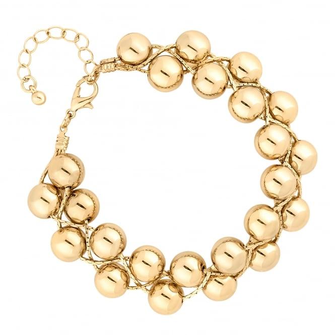 Gold Woven Ball Bracelet