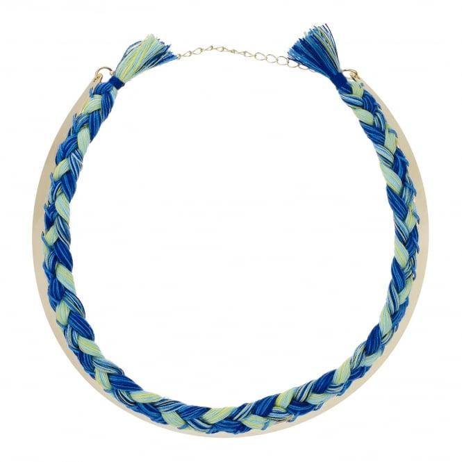 Blue / Green Woven Choker Necklace